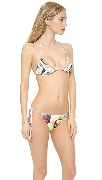 Clover Canyon Floral Maze Bikini Top