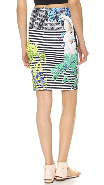 Clover Canyon Enchanted Garden Pencil Skirt