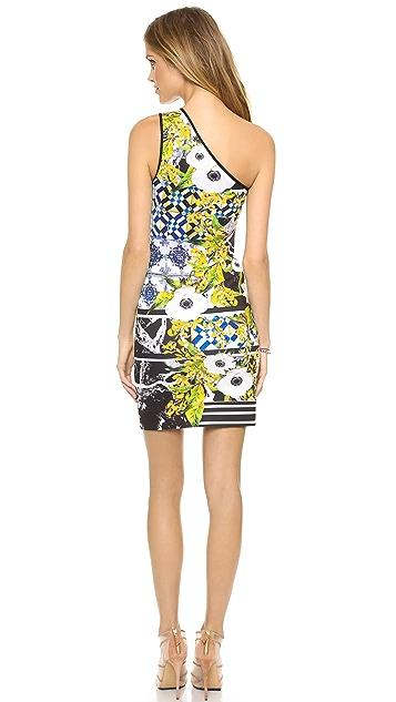 Clover Canyon Greek Tiles One Shoulder Dress