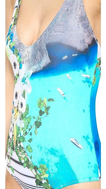Clover Canyon Corfu Swirl Bathing Suit