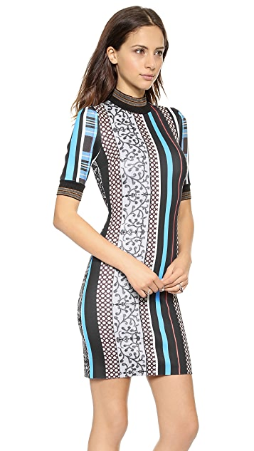Clover Canyon Library Stripe Turtleneck Dress