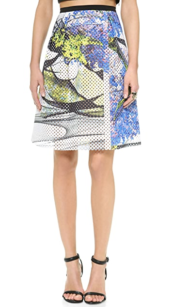 Clover Canyon Space Garden Perforated Skirt