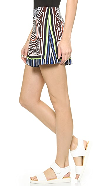 Clover Canyon Striped Labyrinth Shorts