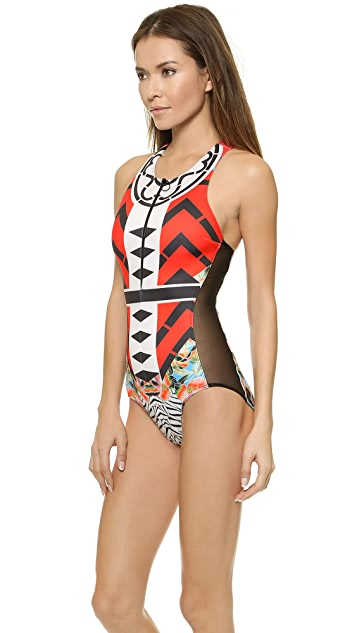 Clover Canyon Toucan One Piece Swimsuit