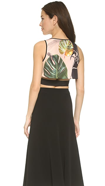 Clover Canyon Falling Leaves Crop Top