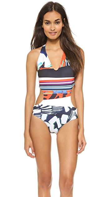 Clover Canyon Ink Stroke Swimsuit