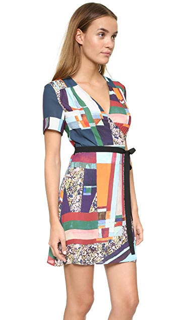 Clover Canyon Modern Mosaic Wrap Dress