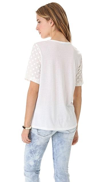Clu Short Sleeve Polka Dot Top