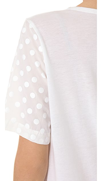Clu Short Sleeve Polka Dot Top