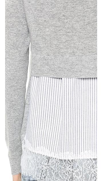 Clu Contrast Back Pullover