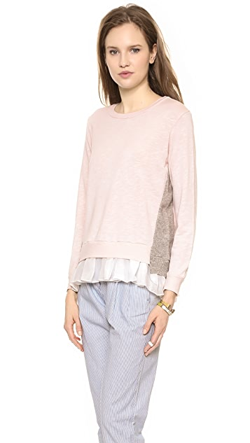 Clu Paneled Ruffled Pullover