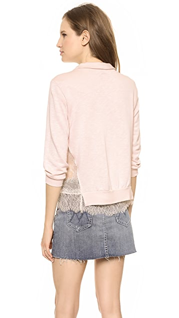 Clu Lace Trimmed Sweatshirt
