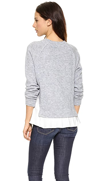 Clu Clu Too Pleated Sweater Top