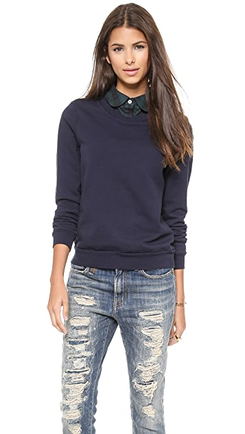 Clu Clu Too Plaid Collar Pullover
