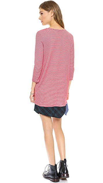Clu Clu Too Paneled Striped Dress