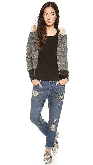 Clu Faux Fur Hooded Jacket