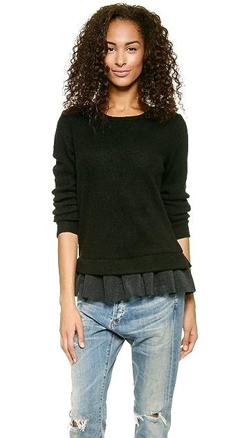Clu Mesh Ruffled Sweatshirt