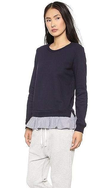 Clu Ruffled Shirting Sweatshirt
