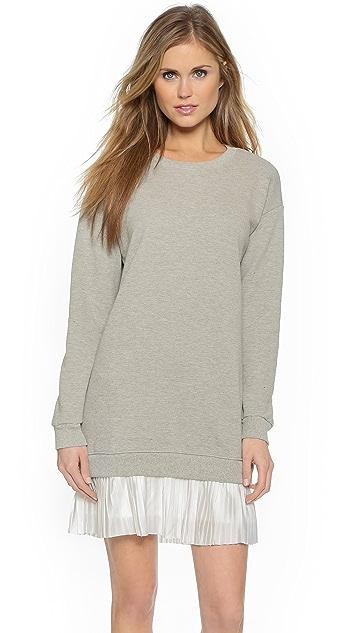 Clu Pleated Sweatshirt Dress