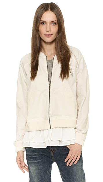 Clu Bomber Jacket with Ruffles