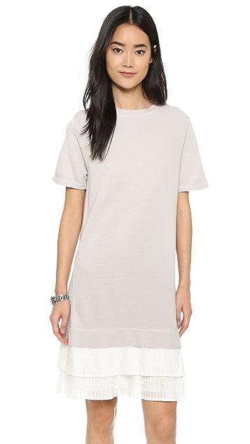 Clu Платье-толстовка с плиссированными оборками