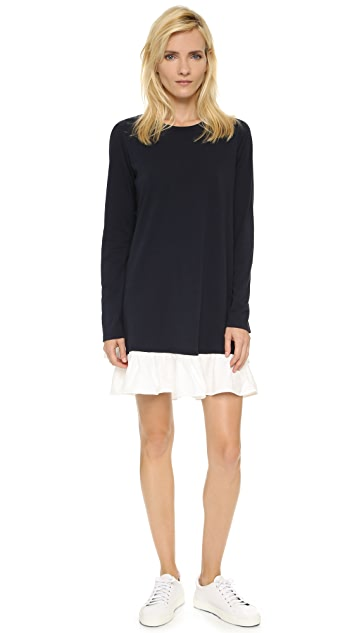Clu Long Sleeve Ruffle Tee Dress