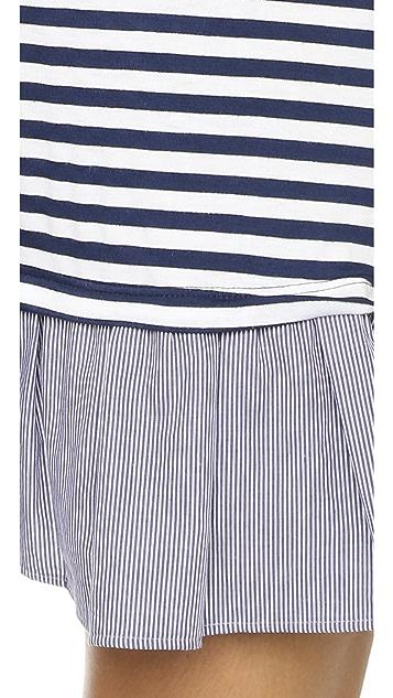 Clu Long Sleeve Ruffle Tee Dress