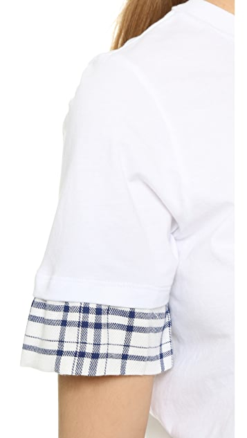Clu Clu Too Contrast Sleeve T-Shirt