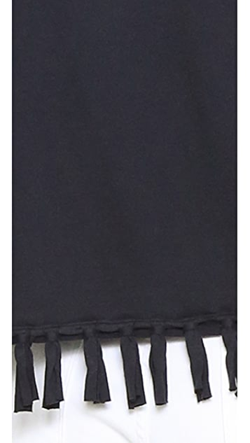 Clu Clu Too Fringe Trimmed T-Shirt