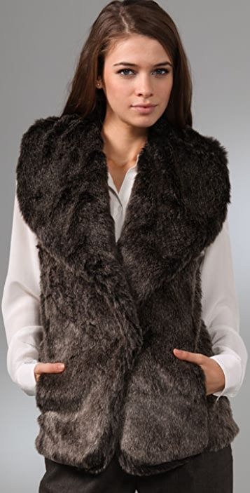 Club Monaco Gia Faux Fur Vest