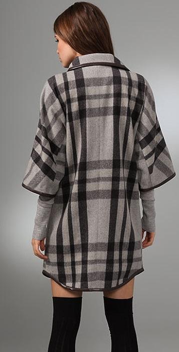 Club Monaco Hannah Plaid Coat