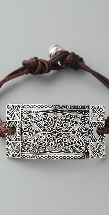 Club Monaco Leather Rope Bracelet