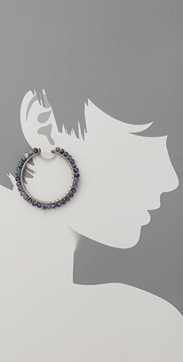Club Monaco Beaded Hoop Earrings