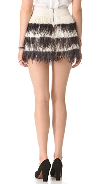 Club Monaco Bridget Feather Skirt