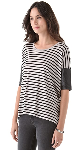 Club Monaco Regan Top Stripe