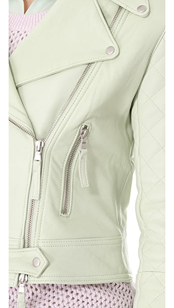 Club Monaco Davie Leather Moto Jacket