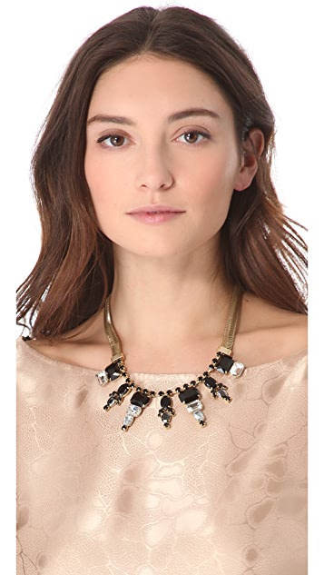 Club Monaco Briana Jet Statement Necklace