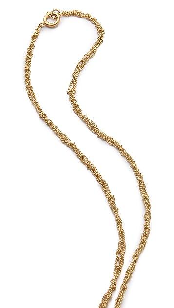 Club Monaco Feather Pendant Necklace