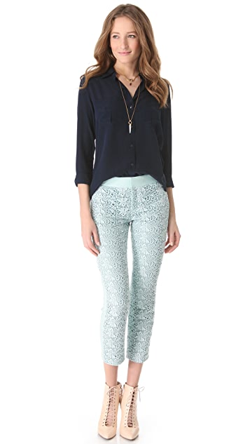 Club Monaco Miller Cropped Lace Pants