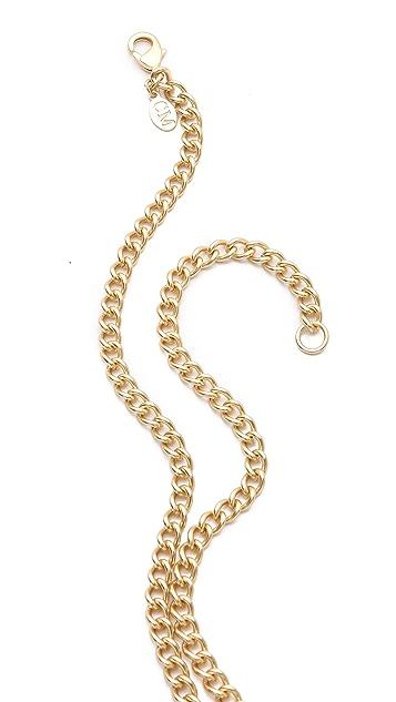 Club Monaco Turquoise Crystal Pendant Necklace