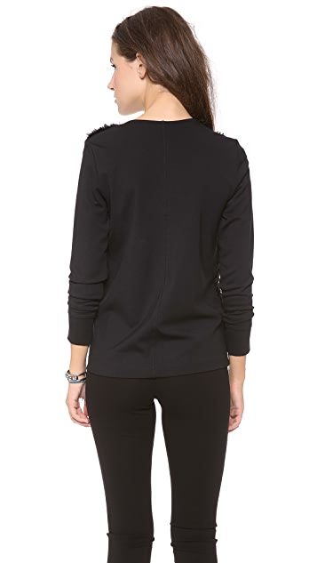 Club Monaco Kenzie Faux Sweatshirt