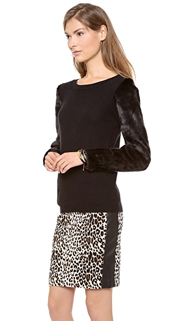 Club Monaco Irina Faux Fur Sweater