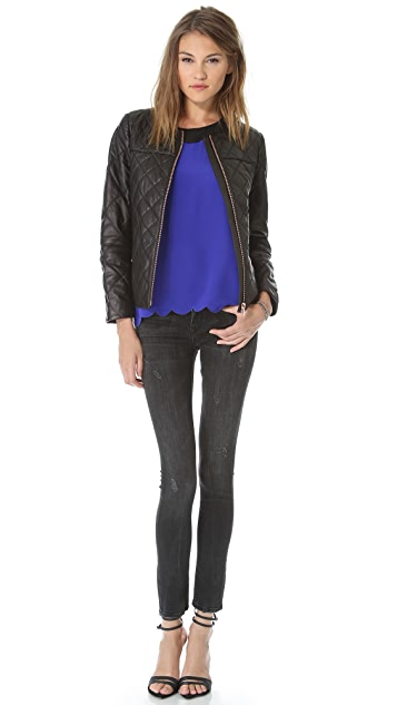 Club Monaco Dean Quilted Leather Jacket