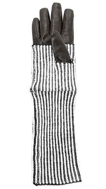 Club Monaco Abby Striped Gloves