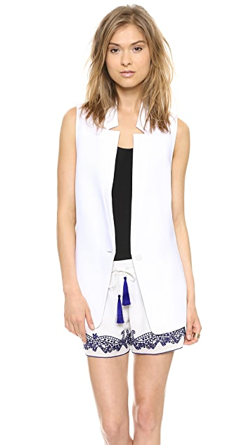 Club Monaco Zoela Sleeveless Blazer