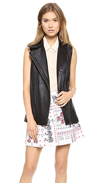 Club Monaco Rey Leather Vest