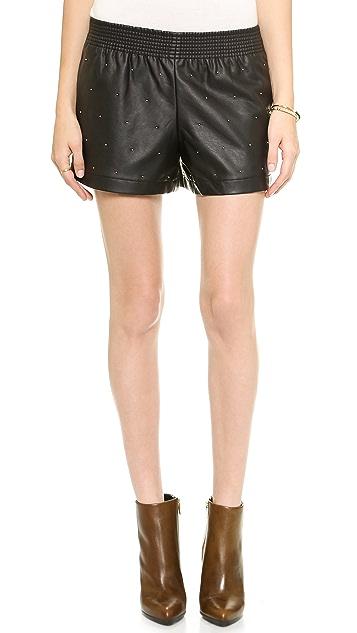 Club Monaco Rebekah Faux Leather Shorts