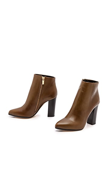 Club Monaco Autumn Stacked Heel Booties