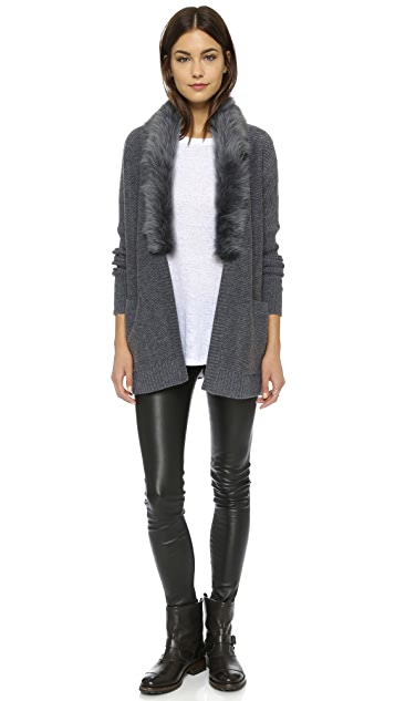 Club Monaco Keila Shearling Wrap Cardigan