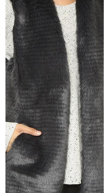 Club Monaco Rayette Faux Fur Vest